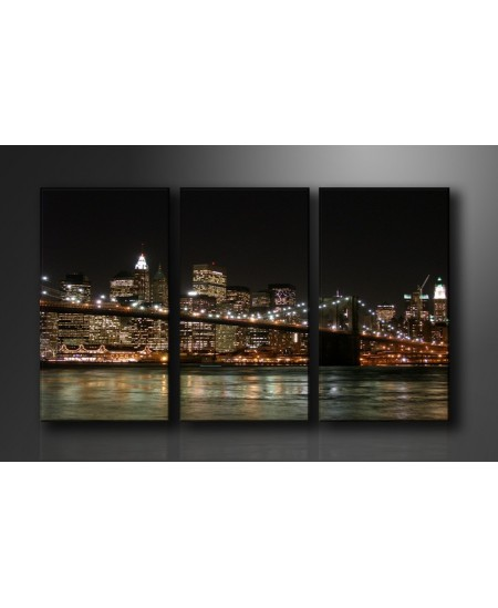 Cuadros Luces Brillantes de New York 90 x 160 cm