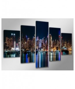 Cuadros New York en Luces de Colores 100 x 200 cm
